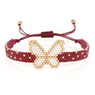 pulsera simple pequeña mariposa insecto joyería Miyuki joyería de moda tejida a mano al por mayor nihaojewelry NHGW223559's discount tags
