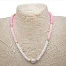 Perles naturelles d39eau douce Baroque collier de perles couleur simple eau douce argile bijoux en gros nihaojewelry NHGW223564