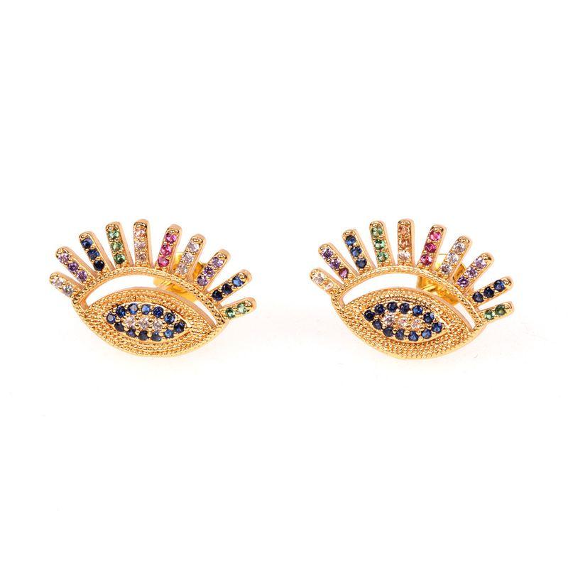 new jewelry devil's eye earrings fashion trendy eyes earrings simple wild ear jewelry wholesale  nihaojewelry NHPY223571