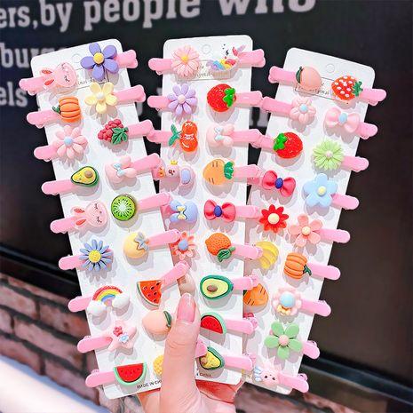 Pinza de pelo de resina de color caramelo para niños lindo arco fruta horquilla bebé niña flequillo clip accesorios para el cabello al por mayor nihaojewelry NHNA223592's discount tags