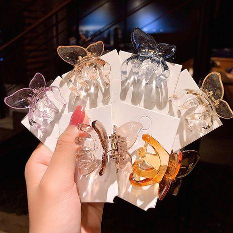 Gelée couleur papillon tridimensionnel petit clip de serrage coréen simple rétro clip cheveux attraper côté clip cheveux accessoires en gros nihaojewelry NHNA223593's discount tags