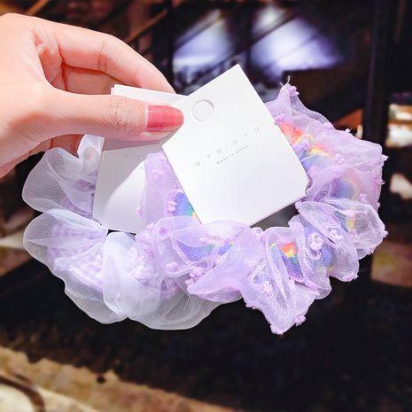Purple hair circle temperament girl head rope tie ball carne pelo cuerda intestino hilo de raíz intestino grueso círculo accesorios para el cabello al por mayor nihaojewelry NHNA223596's discount tags