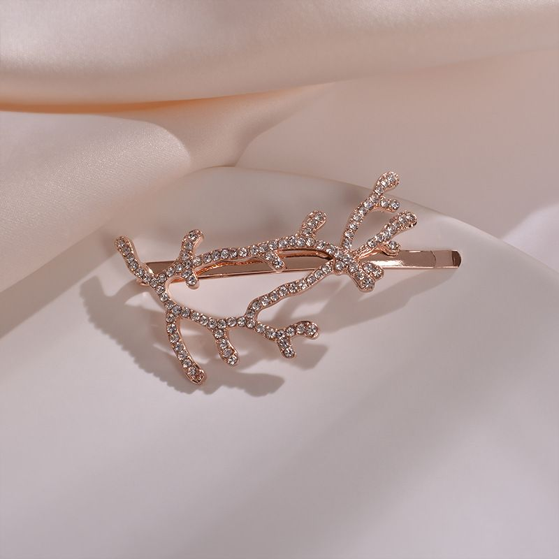 Branches with diamond hairpin Japanese and Korean fashion Mori literary simple wild antler word clip side clip hair accessories wholesale nihaojewelry NHWF223616