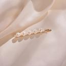 Korean Pearl Hairpin Girl Heart Sweet and Cute Side Clip Word Clip Trend Hair Accessories wholesale nihaojewelry NHWF223623