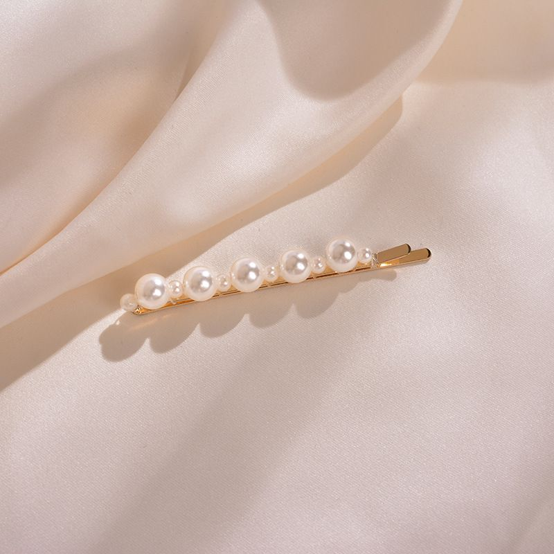 Korean Pearl Hairpin Girl Heart Sweet and Cute Side Clip Word Clip Trend Hair Accessories wholesale nihaojewelry NHWF223623