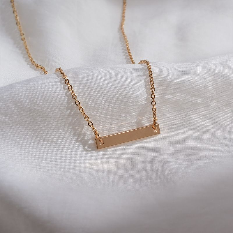 new one-line horizontal necklace South Korea fashion simple wild clavicle chain creative personality short neck necklace wholesale nihaojewelry NHWF223636