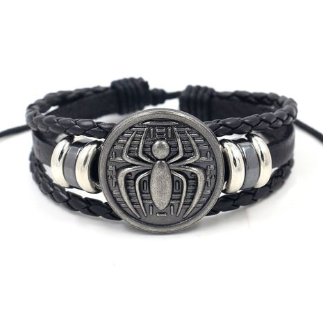 new accessories casual style men's personalized cowhide woven beaded bracelet jewelry wholesale nihaojewelry NHHM223683's discount tags