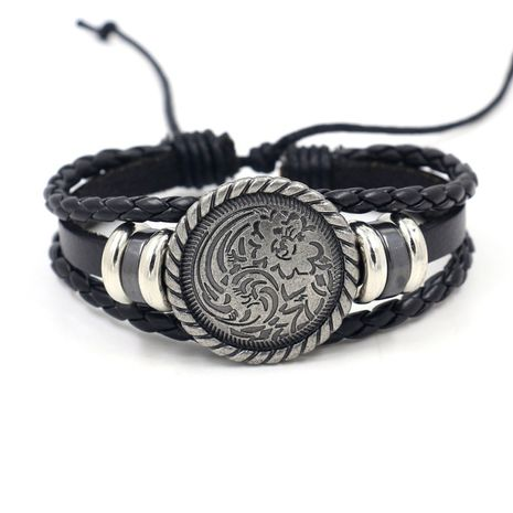 A vintage hand-woven men's bracelet alloy accessories student hand jewelry bracelets wholesale nihaojewelry NHHM223686's discount tags