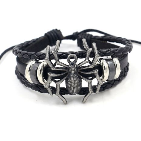 punk casual spider rivet size adjustable leather bracelet small gift souvenirs wholesale nihaojewelry NHHM223688's discount tags