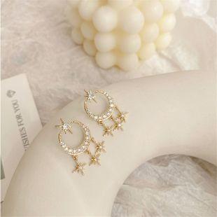 pendientes temperamento moda simple micro-set pendientes de circón nuevos pendientes salvajes al por mayor nihaojewelry NHXI223705's discount tags