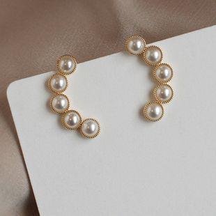 Pendientes de perlas de imitación simples pendientes de moda de temperamento pendientes de sentido superior coreanos salvajes pequeños pendientes al por mayor nihaojewelry NHXI223710's discount tags