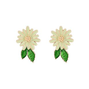 new hot fashion trend personality alloy drip color simple temperament flower earrings wholesale nihaojewelry NHXS223755's discount tags