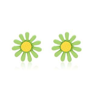personality Mori Sunflower Daisy earrings small flower petals sweet temperament Korean wild earrings wholesale nihaojewelry NHXS223756's discount tags