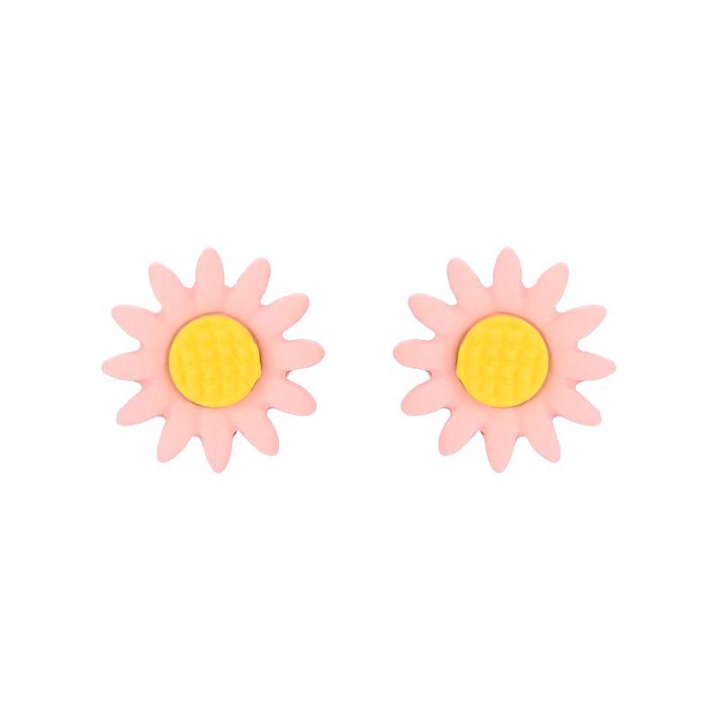 Fashion S925 silver needle alloy drop oil flower earrings cute girl heart literary earrings wholesale nihaojewelry NHXS223759
