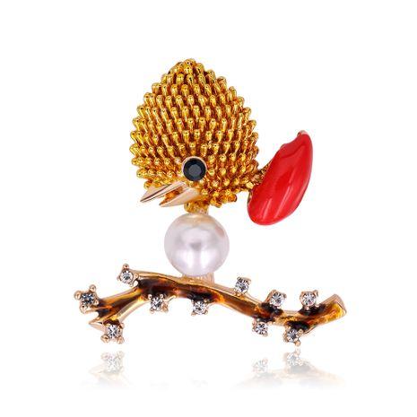 La nueva moda coreana de gama alta gota de diamante color de aceite broche de pájaro ramillete de animales salvajes al por mayor nihaojewelry NHDR223762's discount tags