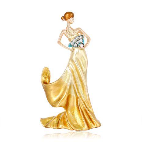Nuevo broche moda salvaje gota aceite serie personalidad bailarina corsage chica venta al por mayor nihaojewelry NHDR223766's discount tags