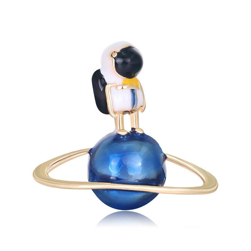 New drop oil brooch fashion astronaut planet brooch  wholesale nihaojewelry NHDR223768