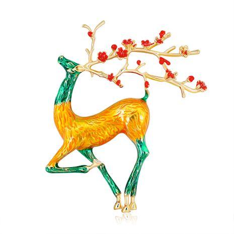 Animal broche moda pintura serie broche personalidad lindo ciervo broche al por mayor nihaojewelry NHDR223769's discount tags