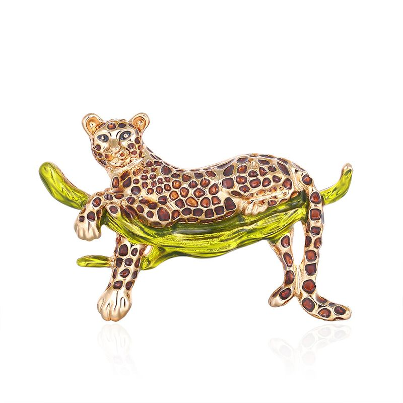 fashion jewelry fashion personality cartoon drop oil leopard brooch wild brooch enamel jewelry wholesale nihaojewelry NHDR223774