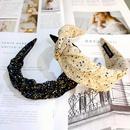 South Koreas new small floral folds widebrimmed headband fabric fashion pressure headband retro flower bud hair accessories wholesale nihaojewelry NHUX223781