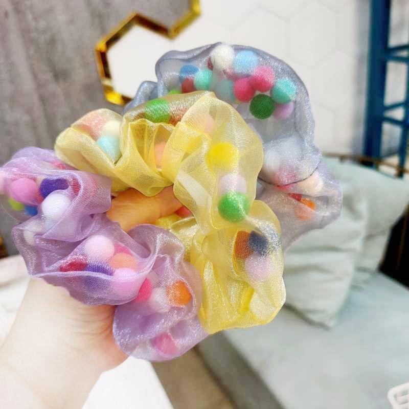 Korean large intestine hair circle super fairy girl with ponytail hair rope wild ball scalp wholesale nihaojewelry NHUX223792