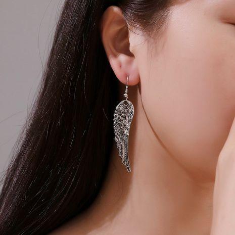 new style feather earrings retro wings earrings fashion angel wings trend earrings wholesale nihaojewelry NHMO223818's discount tags