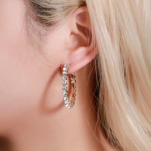 Pendientes de estilo nuevo pendientes de diamantes de color salvaje pendientes simples de letra C al por mayor nihaojewelry NHMO223826's discount tags