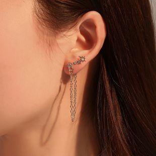 Pendientes de borla de nuevo estilo pendientes de tendencia de temperamento de línea de oreja pendientes de traje de estrella de diamantes engastados al por mayor nihaojewelry NHMO223841's discount tags