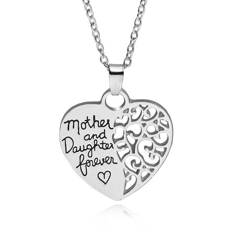 fashion simple style  mother and daughter mother daughter eternal love pendant sweater chain wholesale nihaojewelry NHMO223885's discount tags