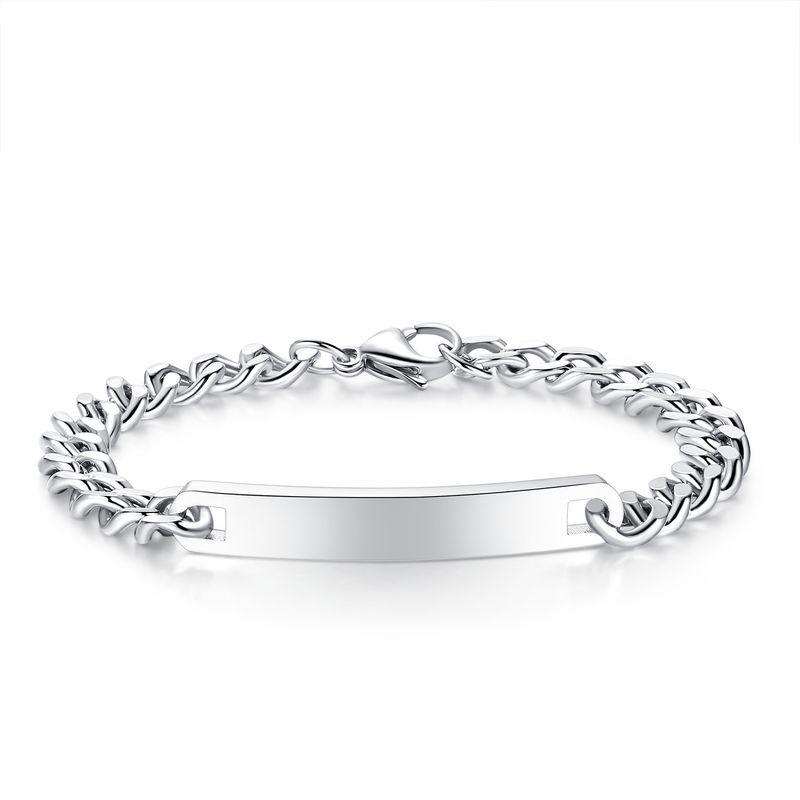 stainless steel bracelet new jewelry fashion trend streamlined smooth couple titanium steel bracelet wholesale nihaojewelry NHKN223916