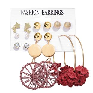 hot sale earrings set creative retro simple new pearl earrings 6 pairs wholesale nihaojewelry NHYI223930's discount tags