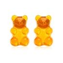 New Jelly Bear Candy Color Earrings Korean Creative Cartoon Bear Earrings wholesale nihaojewelry NHYI223932