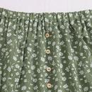 Verano nuevos productos damas falda corta floral pequea margarita impresiones de orejas de madera falda arrugada mujeres al por mayor nihaojewelry NHDF230449