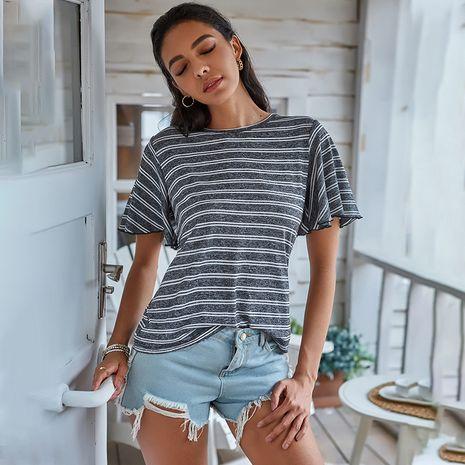 Nueva moda de verano estilo casual con capucha de manga corta de moda suelta cuello urbano camiseta de mujer al por mayor nihaojewelry NHDF230477's discount tags