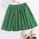 summer new hot sale green pleated ruffled halflength floral bandage Aline skirt wholesale nihaojewelry NHDF230478