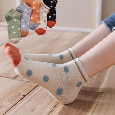 calcetines de lunares de barco de verano calcetines casuales de algodón dulce calcetines bajos de barco al por mayor nihaojewelry NHER230501's discount tags