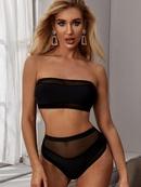 nouveau maillot de bain dames couture sexy split noir bikini maillot de bain en gros nihaojewelry NHHL230535