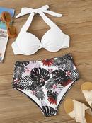 Nouveau bikini extrieur tube sexy haut sac dur sangle feuille imprim maillot de bain en gros nihaojewelry NHHL230558