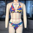 mode color split maillot de bain imprim maillot de bain sexy en gros nihaojewelry NHZO230581