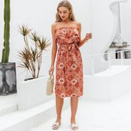 new summer fashion bohemia style  red long dress for women wholesale NHDE230712