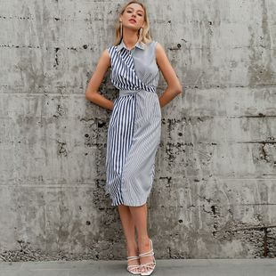 summer fashion new  gray-blue long hip dress for women wholesale NHDE230715's discount tags