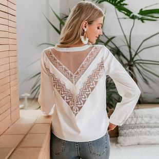 new fashion loose white color sexy  backless top for ladies wholesale NHDE230716's discount tags