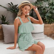 fashion new summer slim mint green suspender dress for women wholesale NHDE230719