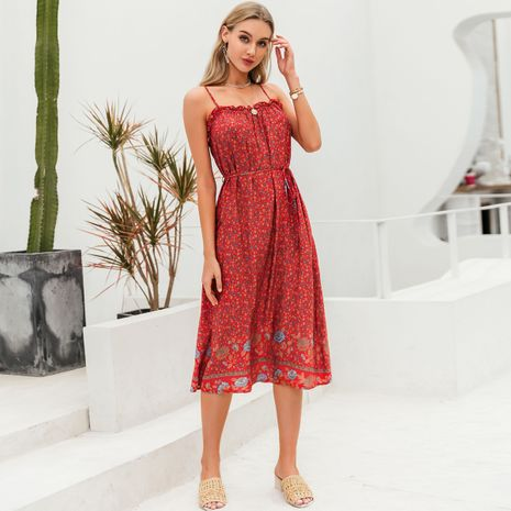 summer fashion bohemian style long loose pattern off the shoulder  sexy  dress for women wholesale  NHDE230724's discount tags