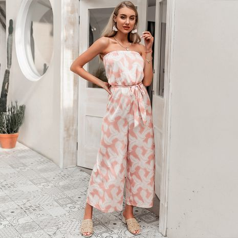 summer fashion  elegant sexy suspender  loose long pant  suit for women wholesale NHDE230730's discount tags