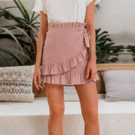 fashion new summer slim pink simple style skirt  for women wholesale NHDE230731's discount tags