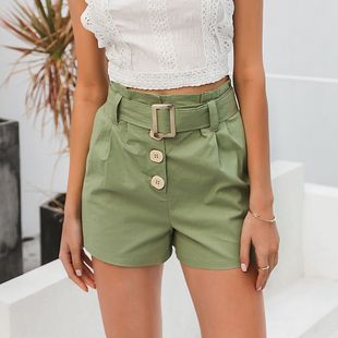summer fashion new slim  green  short for women wholesale  NHDE230735's discount tags