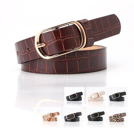 Belt women new fashion pin buckle belt ladies coat dress sweater decorative belt wholesale nihaojewelry NHJN230741's discount tags