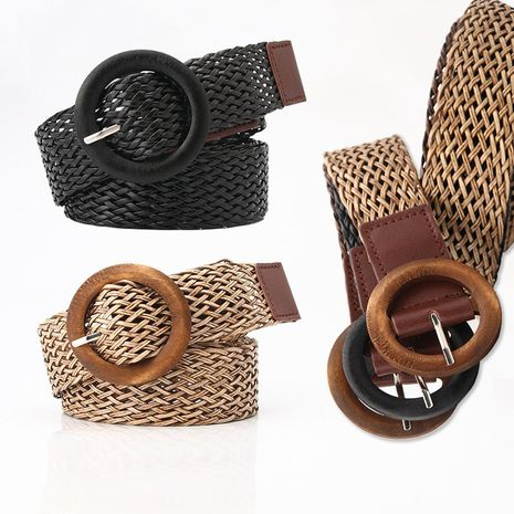 new product ladies ethnic style woven belt fashion woven belt with dress decorative belt wholesale nihaojewelry NHJN230743's discount tags
