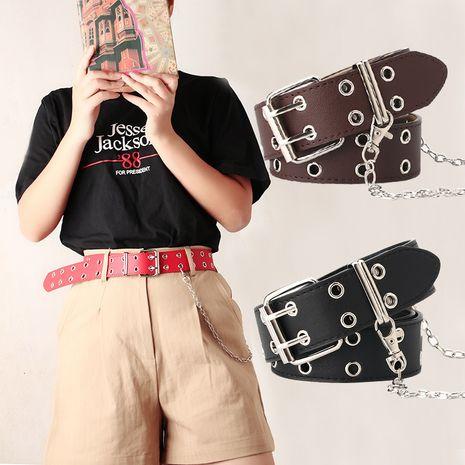 new punk style belt fashion corn eye chain decorative belt wholesale nihaojewelry NHJN230745's discount tags